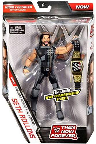 WWE Elite Collection Then Now Forever Seth Rollins Action Figure (with WWE Championship Belt) by WWE