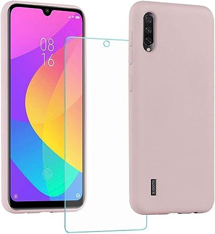 All Do Funda para Xiaomi Mi A3, Protector Pantalla Cristal Templado, Carcasa de Silicona Líquida Gel Ultra Suave Funda con tapete de Microfibra Anti-Rasguño: Amazon.es: Electrónica
