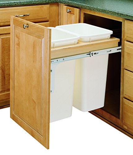 (Rev-A-Shelf Dbl 50 QT Top Mount Waste Container, Natural)