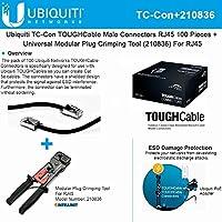 Ubiquiti TOUGHCable TC-Con RJ45 Male Connectors 100Piece +Crimping-Tool For RJ45