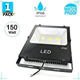 Floodlights 150W Outdoor Led Flood Lights, Super Bright Outdoor Security Lights, Waterproof IP66, 19500lm, Cool White, 6500K Landscape Floodlight for House Backyard Party Playground 1 PACK