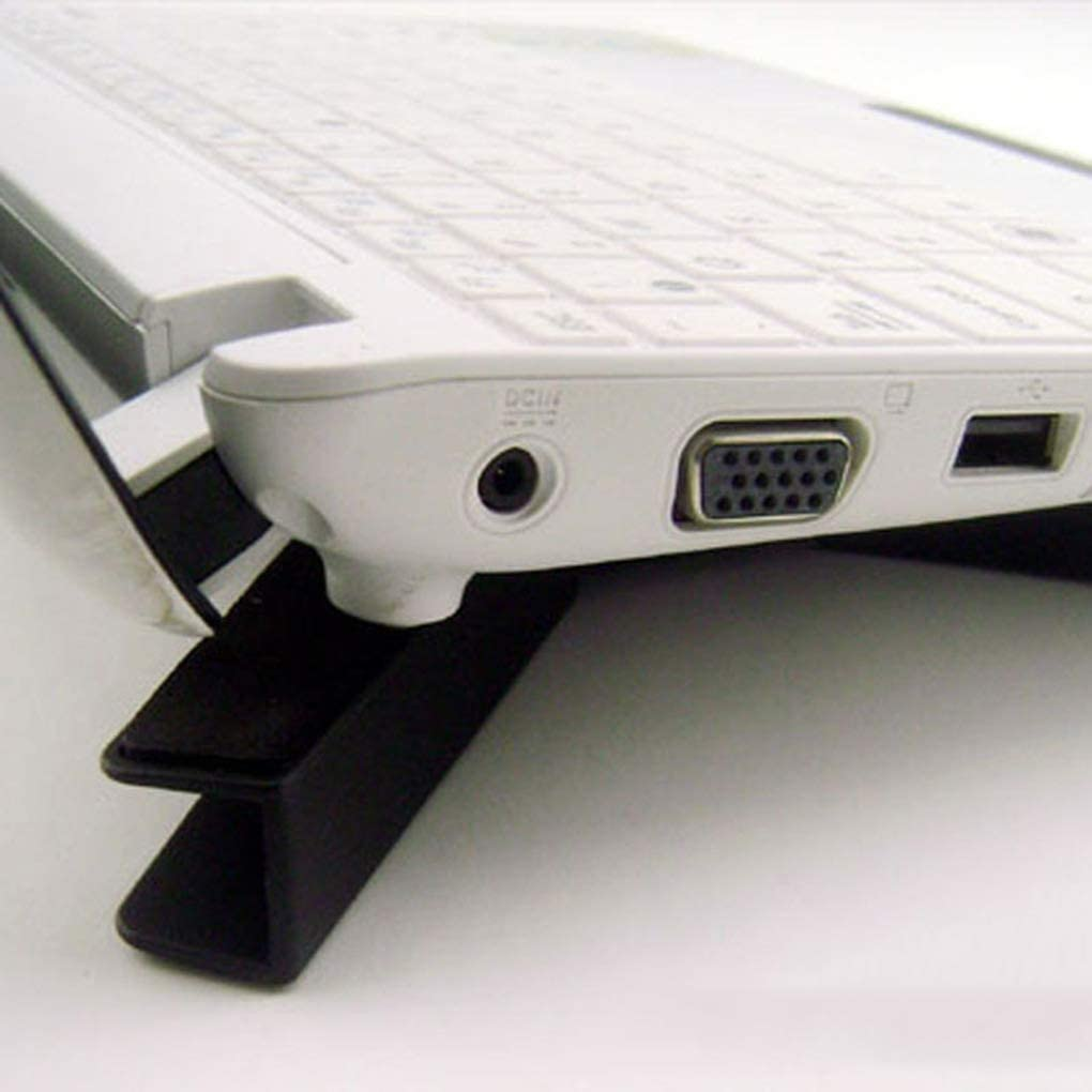 Laptop Stand Portable Folding Dual Cooling Fans Design Notebook Holder Non-Slip Mount USB Powered