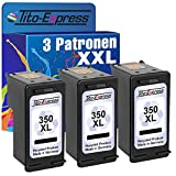 Platinum Series 3 x Ink-Cartridge for HP-350 XL Photosmart C5240 C5250 C5270 C5275 C5280 C5290 Black