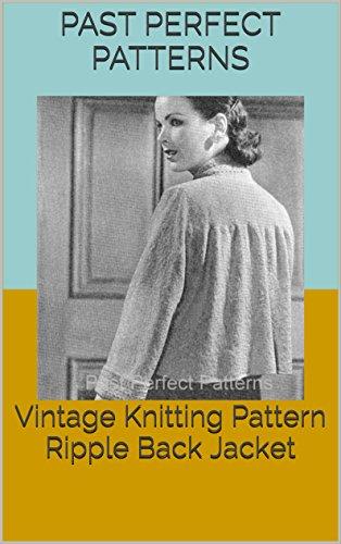 Vintage Knitting Pattern Ripple Back - 1940s Patterns Knitting Vintage