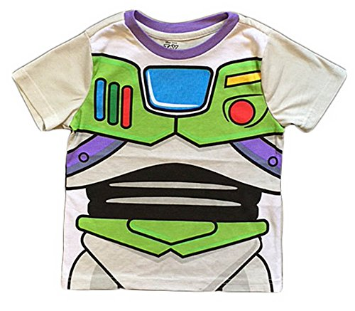 Disney Toy Story Buzz Lightyear Toddler Boys Costume T Shirt (5T) (Disney Buzz Lightyear Costume)