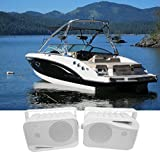 Pair Rockville HP4S 4'' Marine Box Speakers with Swivel Bracket For Boats