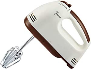 LEFJDNGB Small Hand Mixer - Professional Electric Handheld Food Collection Hand Mixer for Baking - 7 Speed Function with Includes Stainless Steel Beaters