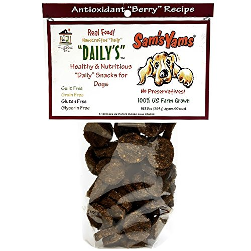 Sam's Yams Cookies Sweet Potato Dog Treats, Berry Yammy, 4.5 Ounces