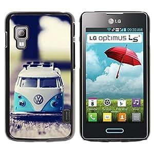 Be Good Phone Accessory // Dura Cáscara cubierta Protectora Caso Carcasa Funda de Protección para LG Optimus L5 II Dual E455 E460 // hippie bus 70's weed culture van