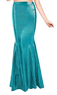 For G and PL Halloween Women's Fish Scale Mermaid Costume Skirt