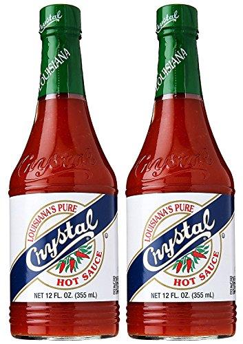 Crystal Hot Sauce, Louisiana's Pure Hot Sauce, 12 Fluid Ounces (Pack of 2)