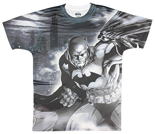 2 Sided Graphic T-shirt (DC Comics Batman Dark Knight Two Sided Licensed Graphic T-Shirt - Medium)