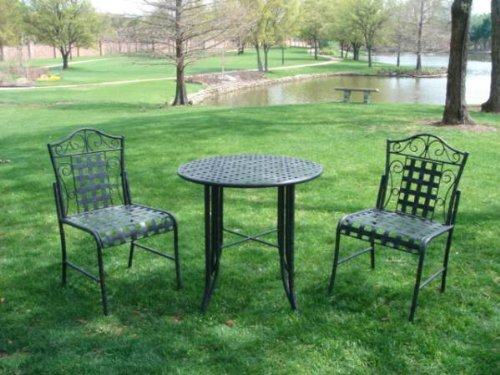 wrought iron patio dining set - 6