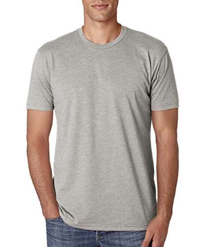 Silk Cotton Crewneck T-shirt - Next Level NL6210 Men's 60% Cotton/40% Polyester Crew Neck T-Shirt - Silk - Large