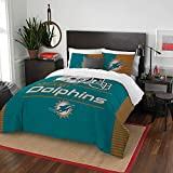 NFL Miami Dolphins Draft Two Sham Set, Aqua, Full/Queen Size