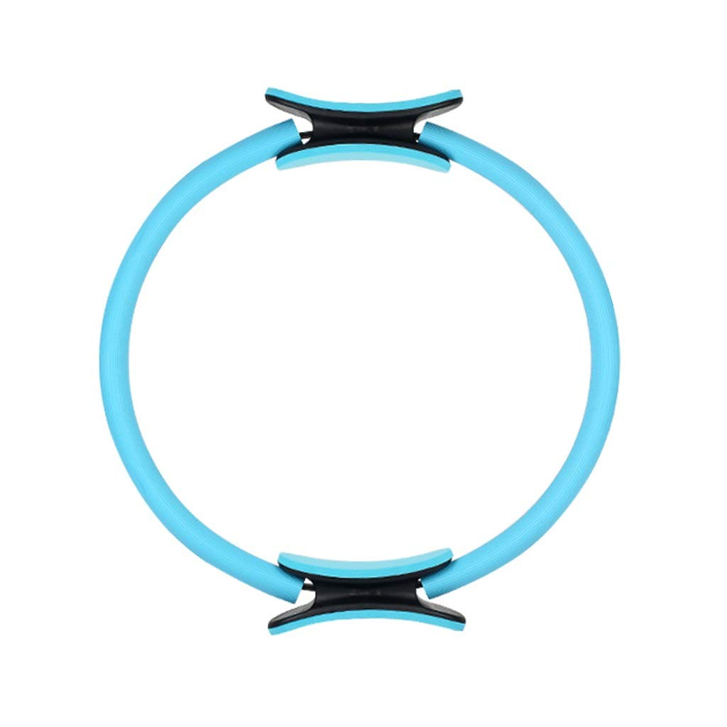 Magic Circle, Double Handle Exercise Yoga Ring 37cm Exercise Circle,for Abs Thighs and Legs,for Fat Burnning Core Training Physical Therapy (Color : Blue)