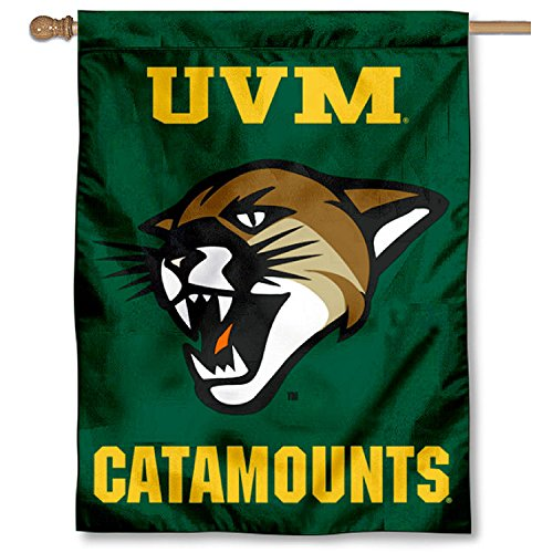 College Flags and Banners Co. Vermont Catamounts UVM Double Sided House Flag by College Flags and Banners Co.
