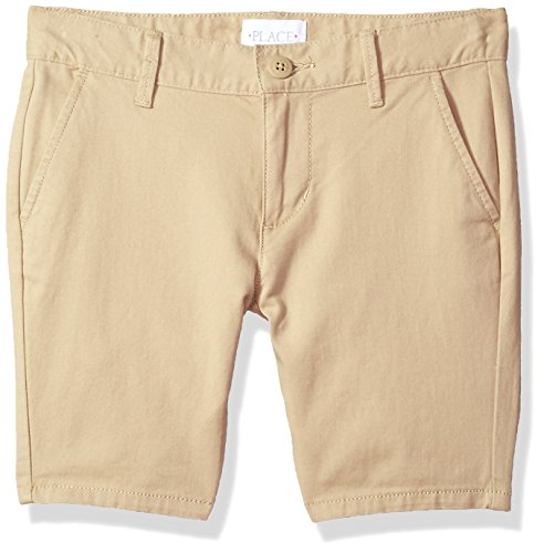 The Children's Place Big Girls' Uniform Shorts, Sandy, 5S by The Children's Place