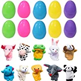 """Goege Bailey 10Pcs Finger Puppets Filled Bright Colorful 2.5"""" Easter Eggs"""