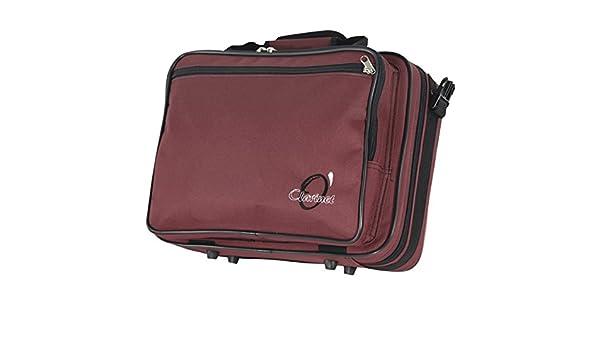 Amazon.com: ESTUCHE FUNDA CLARINETE SIB REF.186 (37x28x12cm.) Rojo: Musical Instruments