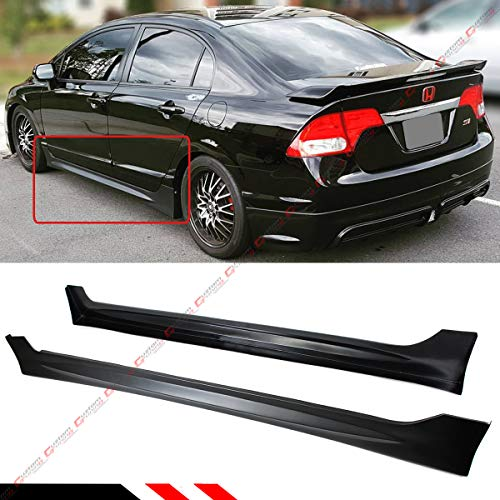 - FITS FOR 2006-2011 HONDA CIVIC 4 DOOR SEDAN MUG RR STYLE SIDE SKIRT EXTENSION PANEL