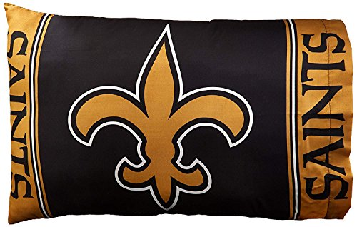 - Northwest Officially Licensed NFL New Orleans Saints 2-Piece Pillowcase