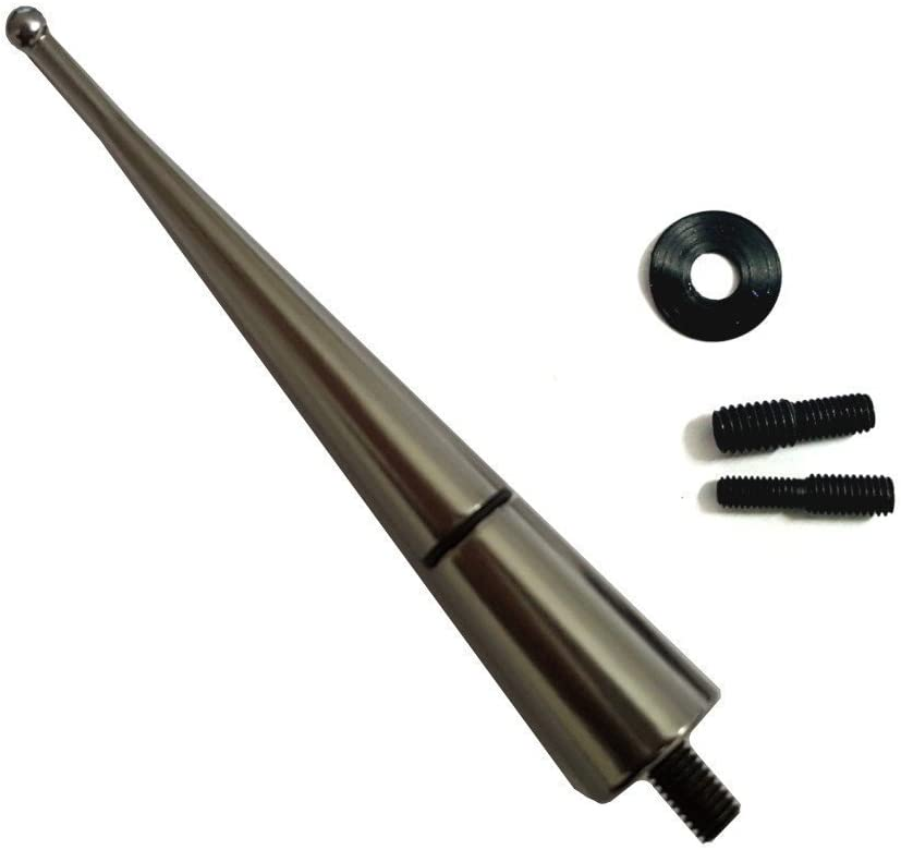 Akhan ANTB90 - Antena de diseño, Varilla Corta, Aluminio, Largo de 90 mm, Color Negro