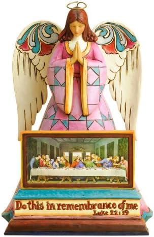 Enesco Jim Shore Heartwood Creek Last Supper Angel Figurine, 8.5-Inch