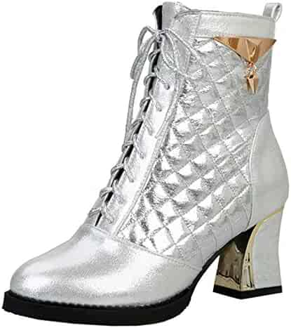 cd8bef2f94828 Shopping 3 - Combat - Silver or Clear - Boots - Shoes - Women ...