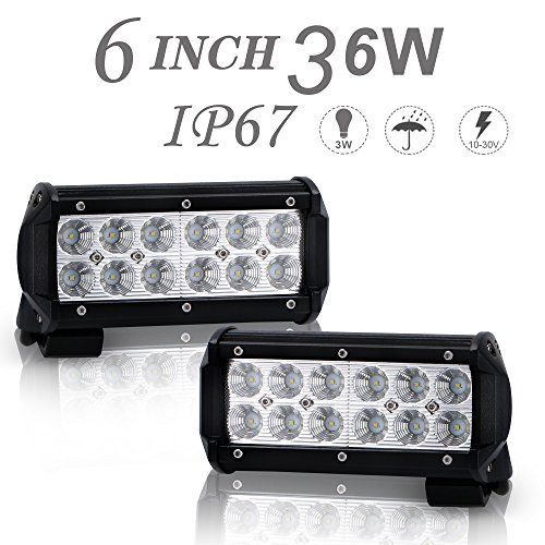 DOT Approved 2Pcs 6Inch 36W Flood LED Light Bar Offroad for sale  Delivered anywhere in Canada