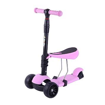 ZWS Kinderroller Los Niños De Dibujos Animados De Tres Ruedas, Triciclo, Moto - Scooter con Asiento De Coche del Bebe Niño - Portable,Polvo: Amazon.es: ...