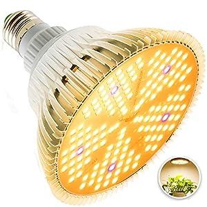 100W Led Grow Light Bulb, Sunlike Full Spectrum Plant Light Bulb, E26 150 LEDs Grow Lights for Indoor Plants Garden…