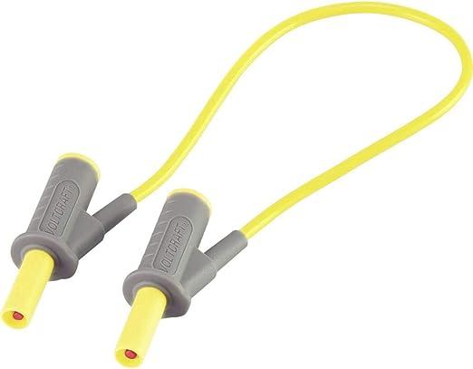 Hochflexible Sicherheits-Messleitung Lamellenstecker 4 mm - Lamellenstecker 4 mm 0.25 m Gelb MSB-501 10 A