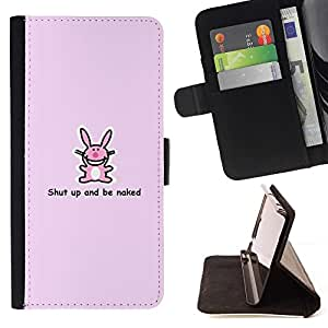 Momo Phone Case / Flip Funda de Cuero Case Cover - Pink Bunny - Cute Funny - Apple Iphone 6 PLUS 5.5