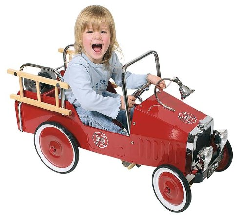 GoKi Metal Pedal Car Fire Engine