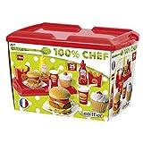 Ecoiffier Hamburger Set (25-Piece, Multi-Colour)