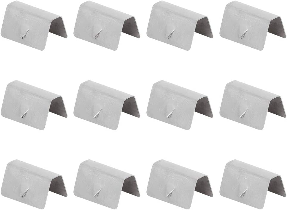 Acouto Wind Deflector Clips,12PCS Car Stainless Steel Wind Rain Deflector Channel Fixing Retaining Clips Fit for HEKO G3