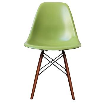 Amazonde Retro Stuhl Kunststoff Mit Holzbeinen Skandinavischer