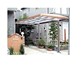 10' x 18' Metal Carport Canopy Aluminum Carport Covers Durable with Gutter Metal Vehicle Shelter RV Carport Metal Garage for Car, Yacht and Copter, Also Is Luxury Patio Cover