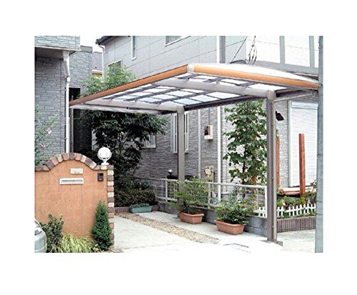 10' x 18' Metal Carport Canopy Aluminum Carport Covers Durable with Gutter Metal Vehicle Shelter RV Carport Metal Garage for Car, Yacht and Copter, Also Is Luxury Patio (Vehicle Shelter)