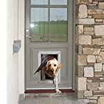 Ideal Pet Products Designer Series Ruff-Weather Pet Door with Telescoping Frame, Choose from Door Entry or Wall Entry