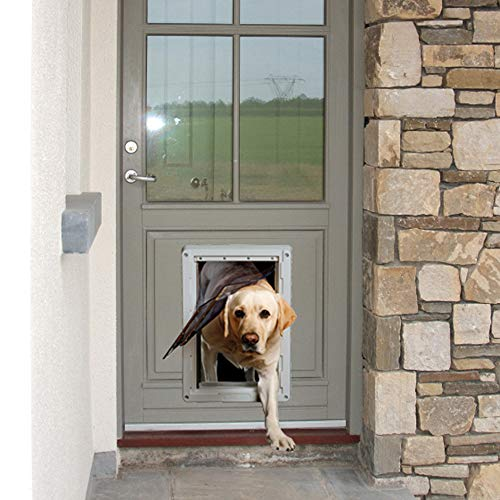 """Ideal Pet Products Designer Series Ruff-Weather Pet Door with Telescoping Frame, Extra Large, 9.75"""" x 17"""" Flap Size"""