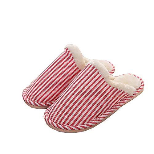 Uomo Inverno Tukistore Ciabatte Pelose Pantofole Eleganti Scarpe Slippers Rosa Cotone Casa ciabatte Suola Morbida Cotone Interne Donna Feltro BRXqRw