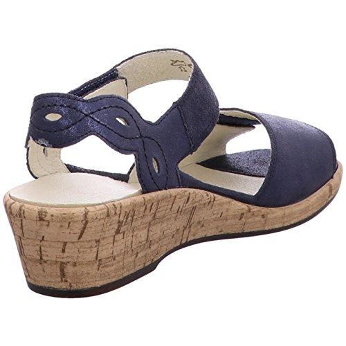 175 Waldläufer 341018 Sandals Fashion Women's Blue 194 SBxCwEBpq