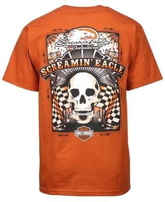 Harley-Davidson Men's Screamin' Eagle Poster On Texas Orange T-Shirt HARLMT0151