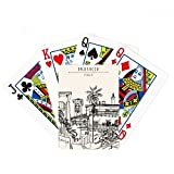 Italy Rome Sketch City Landscape Poker Playing Cards Tabletop Game Gift