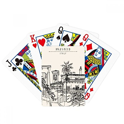Italy Rome Sketch City Landscape Poker Playing Cards Tabletop Game Gift by beatChong