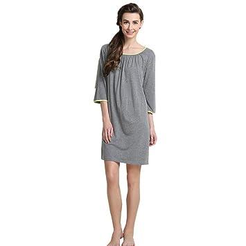 Albornoces Albornoces para Mujer Fibras Artificiales Suave Cálido Acogedor Batas de Mujer Inicio Ropa de Dormir Vestido de Pareja (Color : Gray, ...