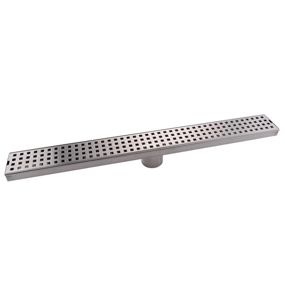 KES Shower Drain, Linear Shower Drain (24 Inch Rustproof Cover) SUS 304 Stainless Steel Floor Drain, V251S60