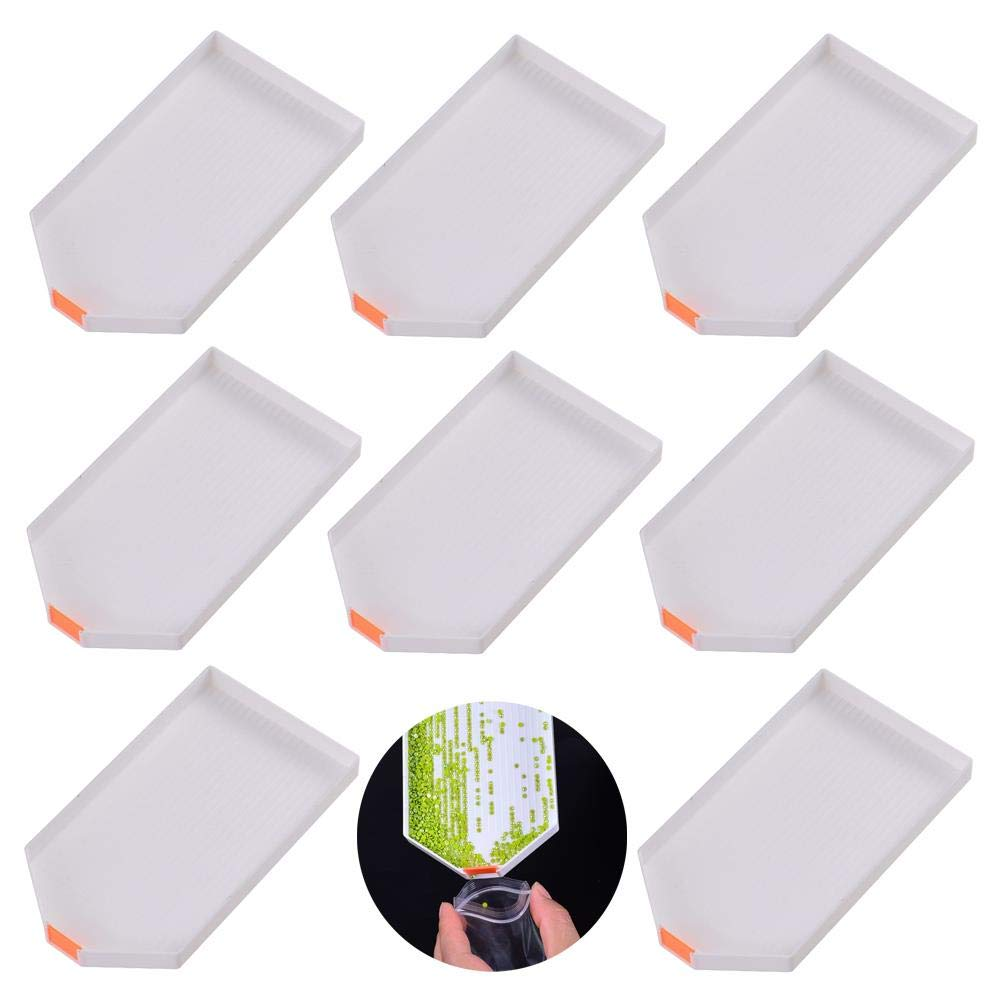 Xiangfeng 8 Pcs Diamond Painting Tools Paint Mixing Trays Plastic Tray Drill Plate Painting Accessories for DIY Art Craft by Xiangfeng